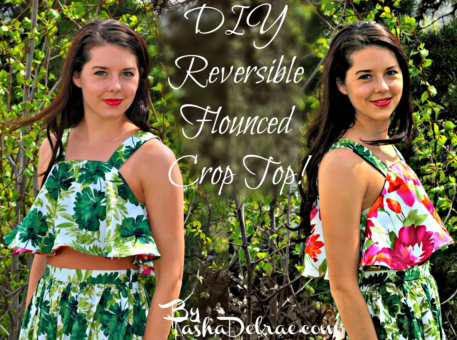 Reversible Shirt Instructions, Floral Print Top