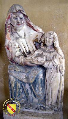 Bulligny - Église de la Nativité-de-la-Vierge - Sainte Anne instruisant la Vierge