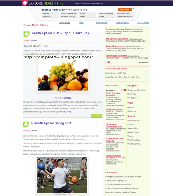 HealthTips WordPress Theme