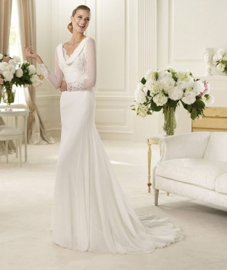 http://www.aislestyle.co.uk/charming-aline-long-sleeve-buttons-lace-sweepbrush-train-chiffon-wedding-dresses-p-194.html#.VGjQ2talaag