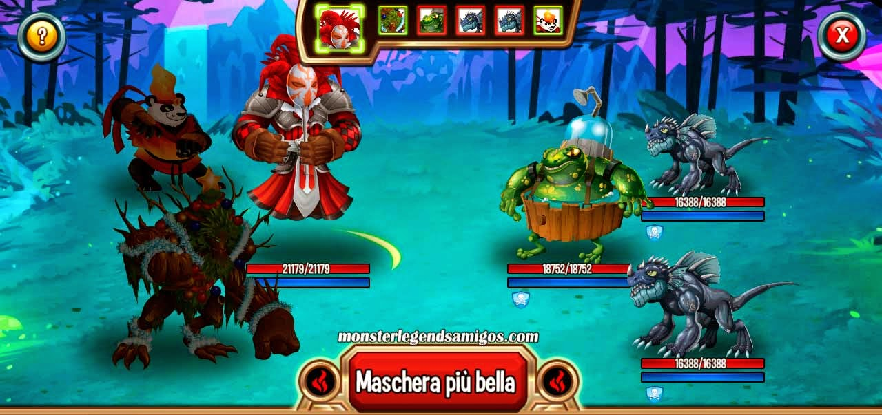 imagen de las peleas de la mision arnu de monster legends