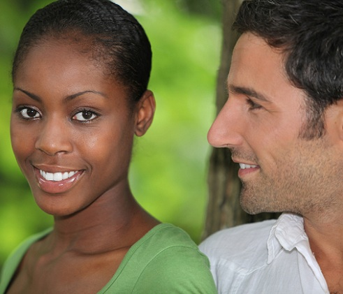 White woman dating black man