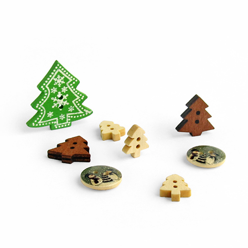 wood buttons, пуговицы