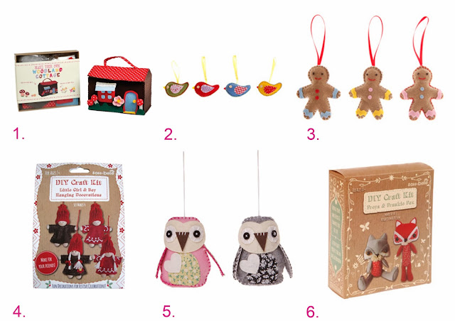 kits diy de fieltro navideños en sweet sixteen craft store