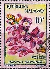 Timbre orchidée Sainte-Marie Madagascar