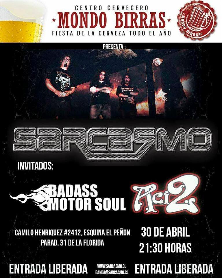 Recitales en Chile : Abril 2015                                                        Mondo Birras