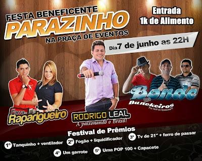 Festa beneficente em Parazinho/RN.