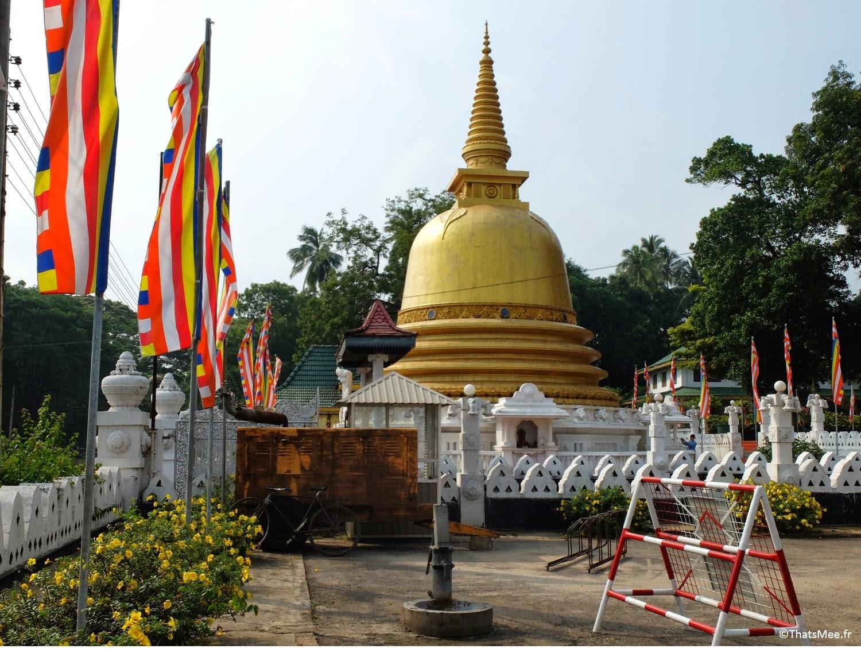 Stupa dorée Bouddhiste Temple de Dambulla au Sri-Lanka