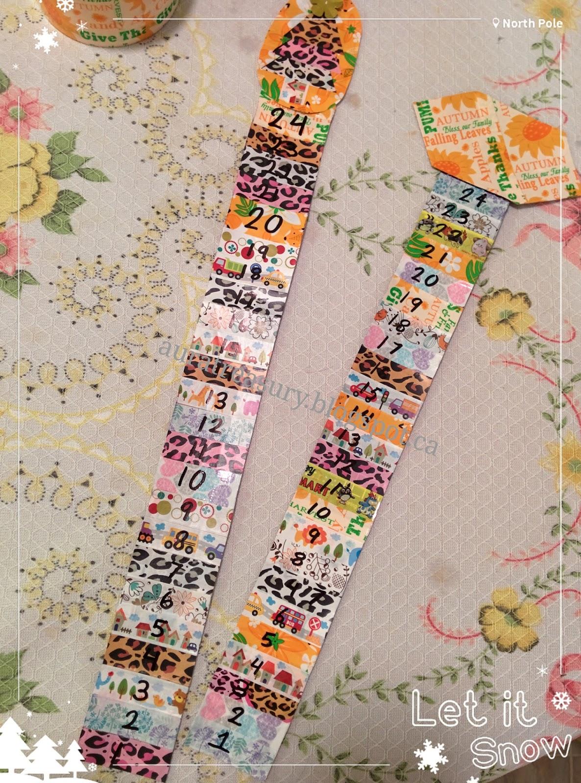 Handmade Calendar Tutorial : Aura treasury diy how to make an advent calendar for kids