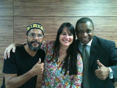 Marta Lanca com Enock Lou e Alvaro Tito ...
