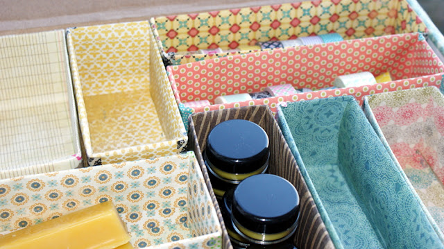 DIY Upcycled Storage Box Organizer Craft Project Made From Recycled Pantry Boxes