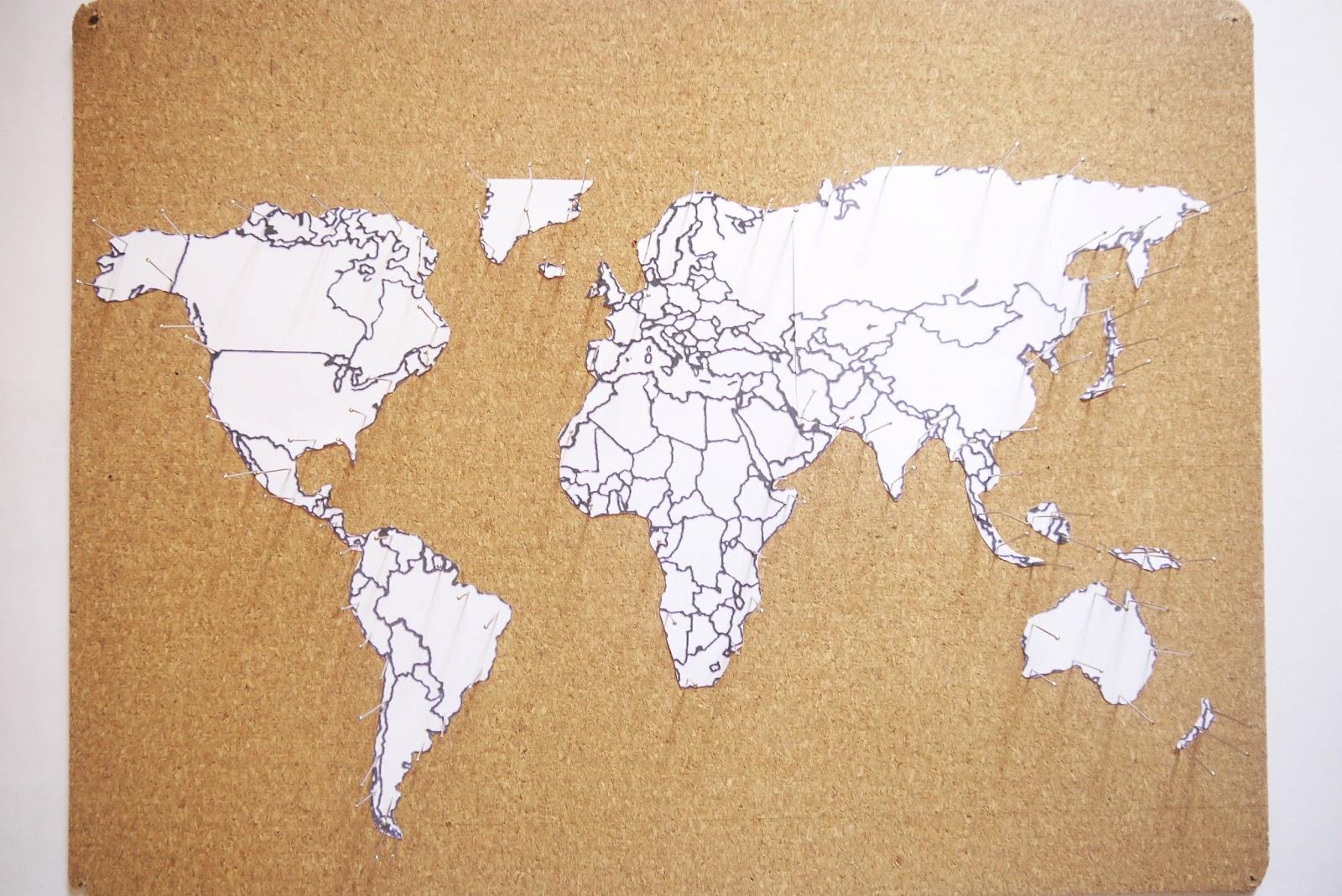 DIY - MAPA DE VIAJES CON SPRAYS - Handbox Craft Lovers | Comunidad ...