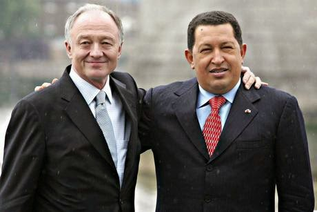 'Liberal' London politician Ken Livingstone with his friend communist dictator Hugo Chavez