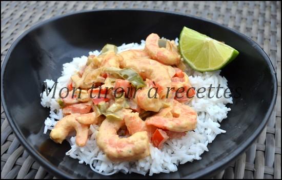 crevettes curry poivron