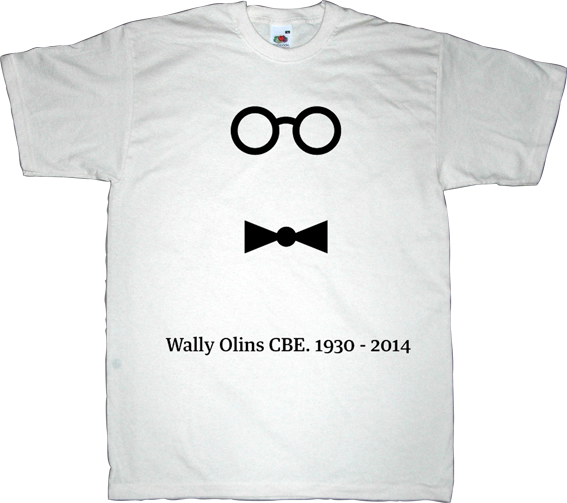 wally olins wolf olins brand advertising tribute t-shirt ephemeral-t-shirts