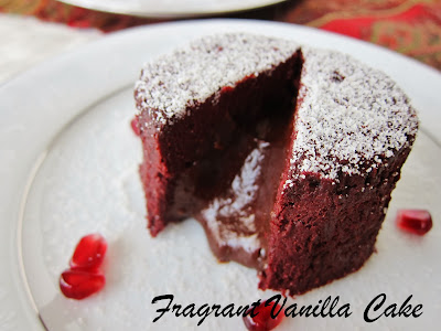 Raw Dark Chocolate Ginger Lava Cakes