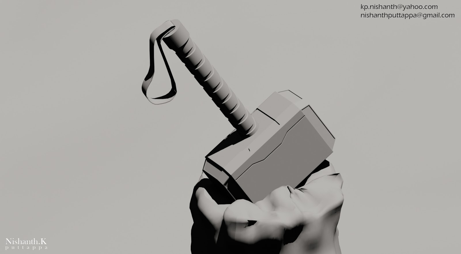 my first textured model thor hammer 3d artist