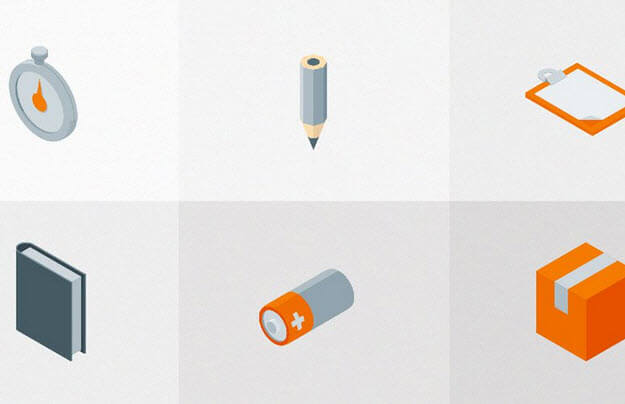 Free Isometric Material Icons (AI, PNG, PSD)