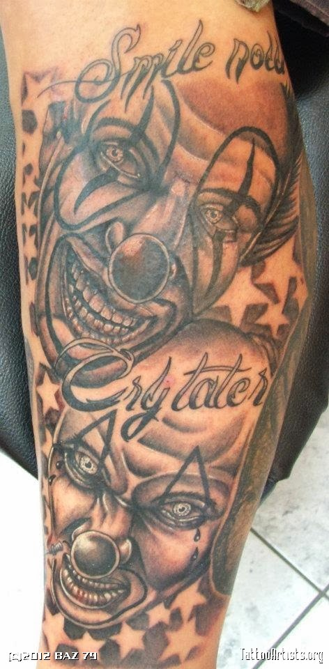 Laugh now cry later tattoos