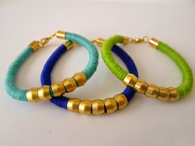 image tutorial diy roundup hardware store bracelet embroidery floss thread brass compression sleeves caps