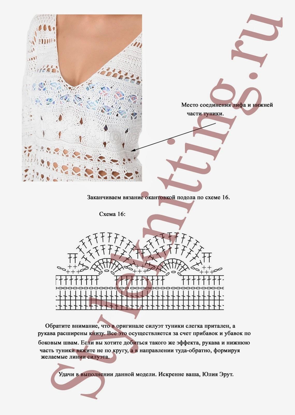 Схема вязания туники спицами 10 фотография