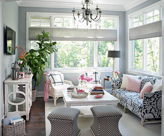 Inside the brick house sunroom screened and covered for Indoor patio decorating ideas