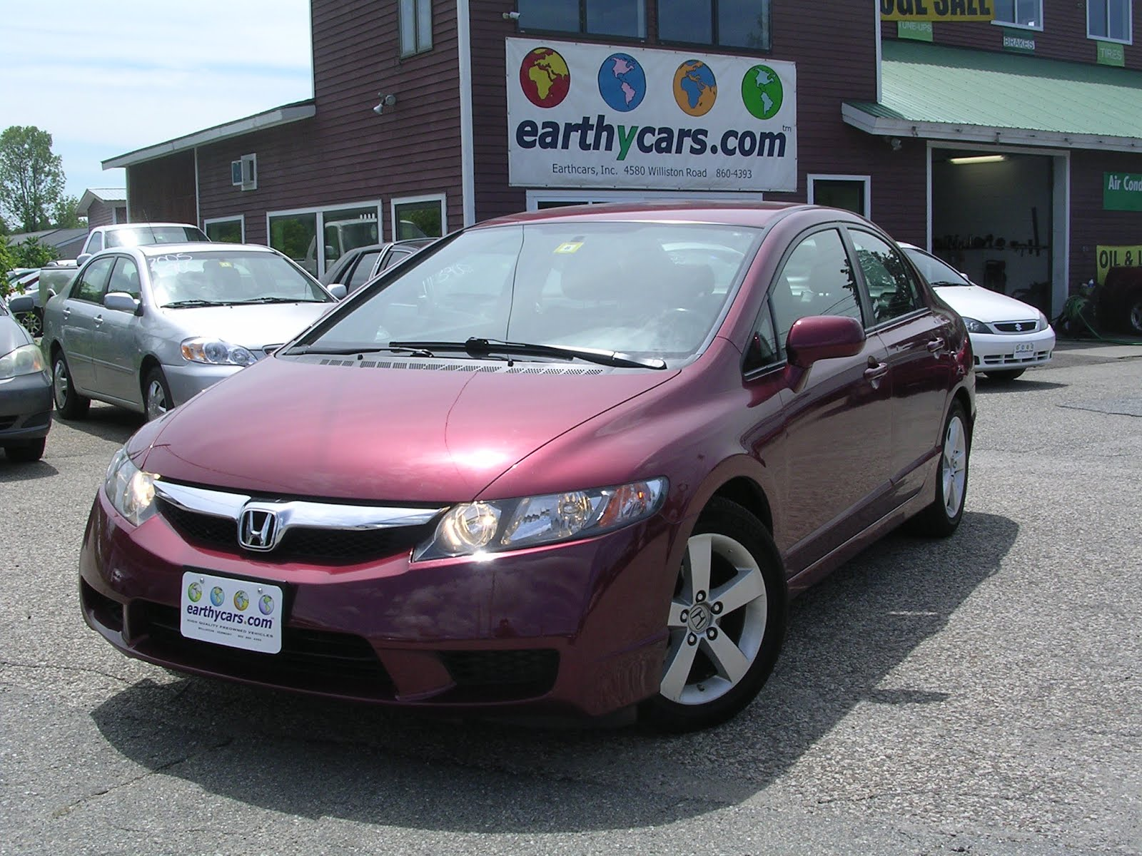 Earthy Cars Blog  EARTHY CAR OF THE WEEK  2010 Red Honda Civic LX