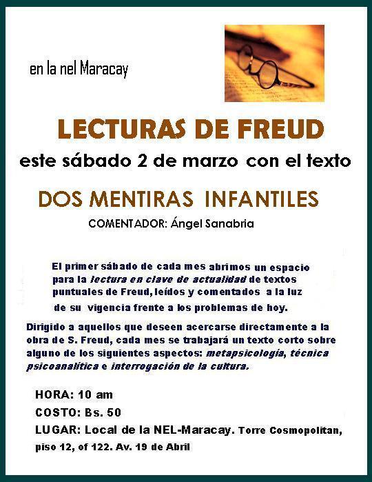 "Lecturas de Freud: ""DOS MENTIRAS INFANTILES"""
