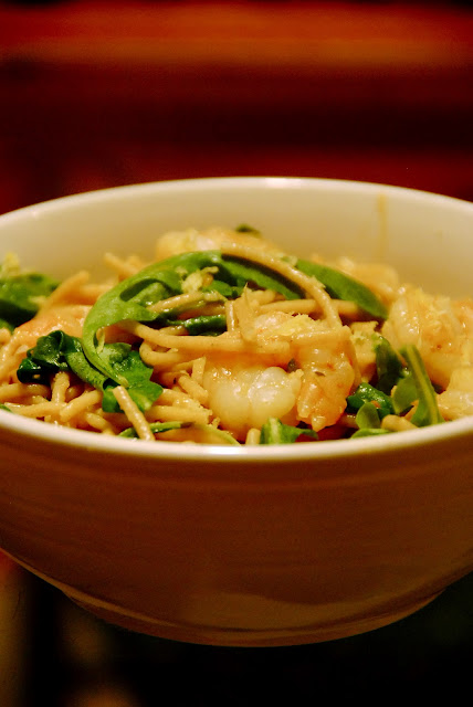 Jamie Oliver's Spaghetti With Shrimp And Arugula