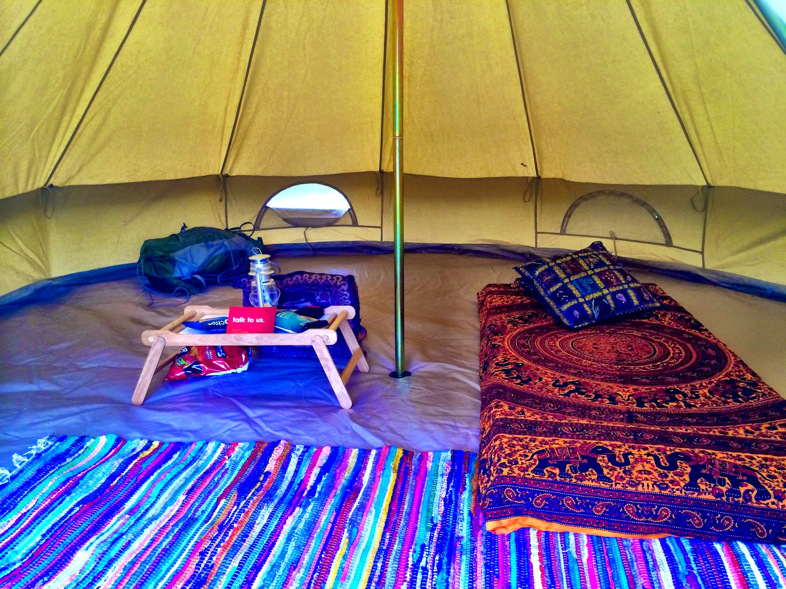 Lovely and spacious inside my Hertz tipi!