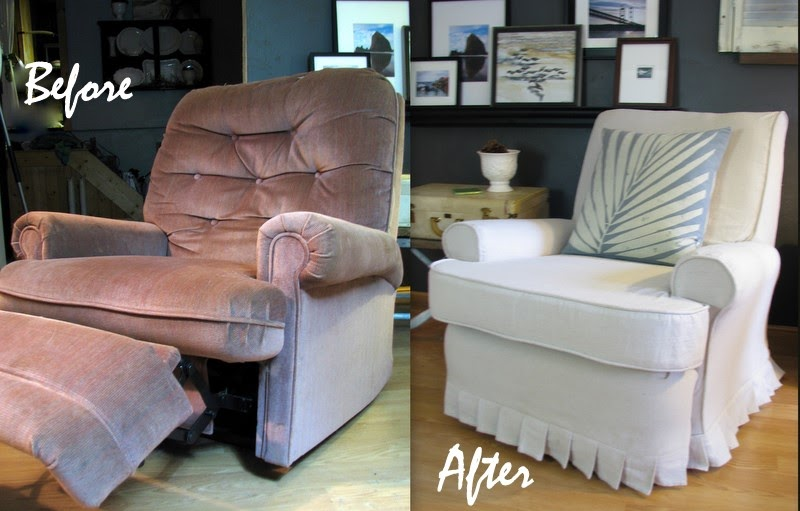 Blue Roof Cabin Recliner A Before And After