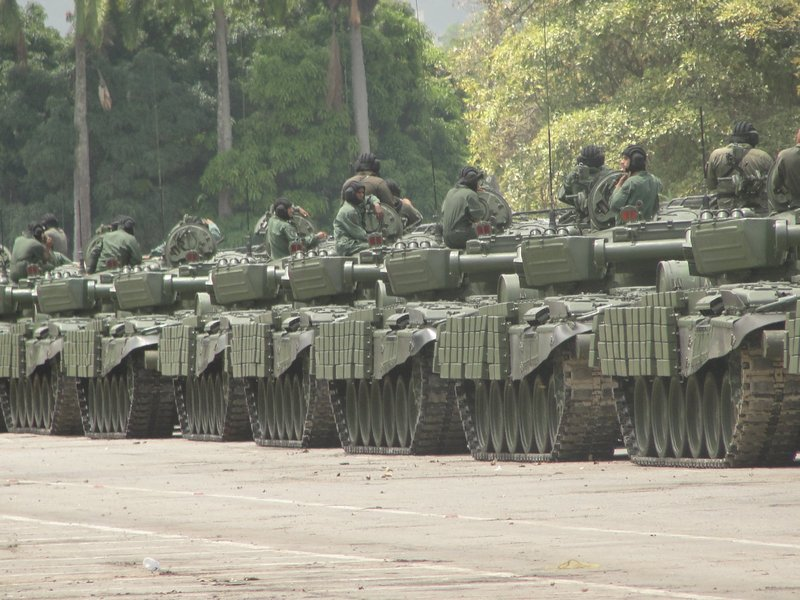 Tanque T-72B1 del Ejército de Venezuela.