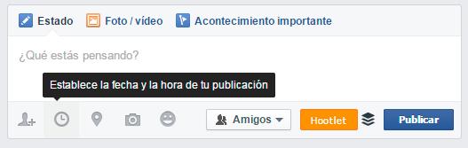 Programar publicación desde perfil personal en Facebook