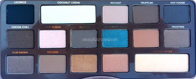 nuova palette too faced swatches