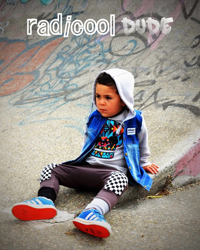 Street style for kids by Radicool Dude - A new kidswear brand from New Zealand