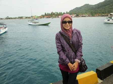 Foto sendiri di pelabuhan karimunjawa