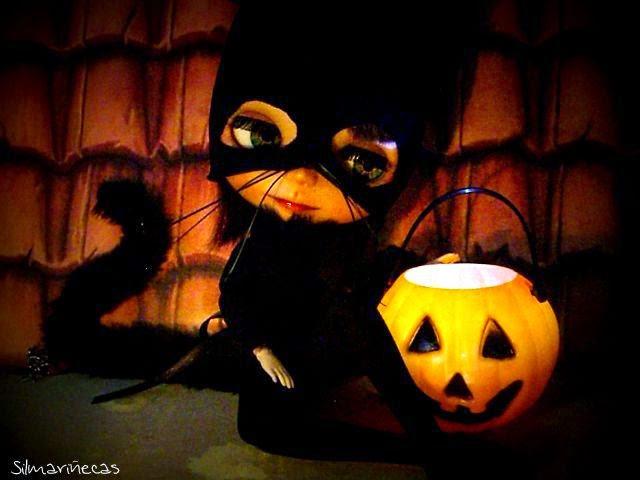 Basaak doll disfraz de gato para halloween
