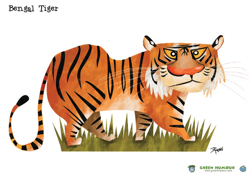 Green Humour Wild Cats Of India