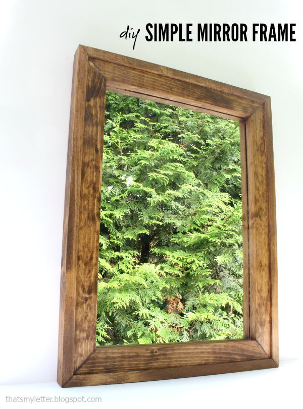 diy wood mirror frame free plans