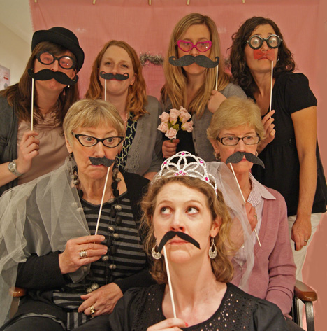 Baby Shower Wording: Real Party: Bridal Shower Photo Booth