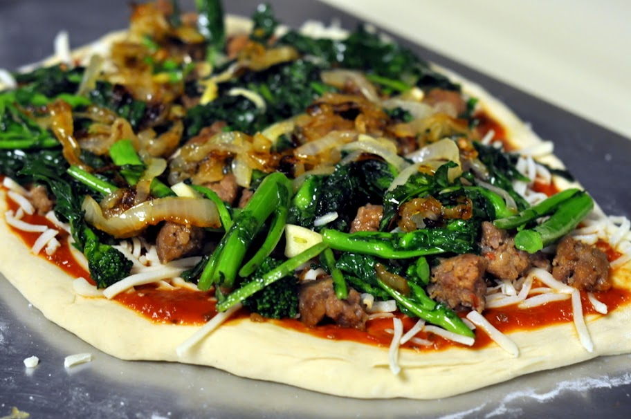 ... Sausage, Caramelized Onions, And Broccoli Rabe Recipe — Dishmaps