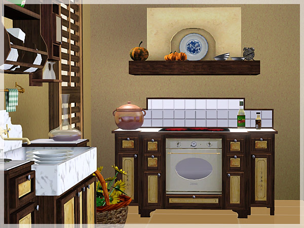 My sims 3 blog rusticalia kitchen set by pilar for My kitchen set