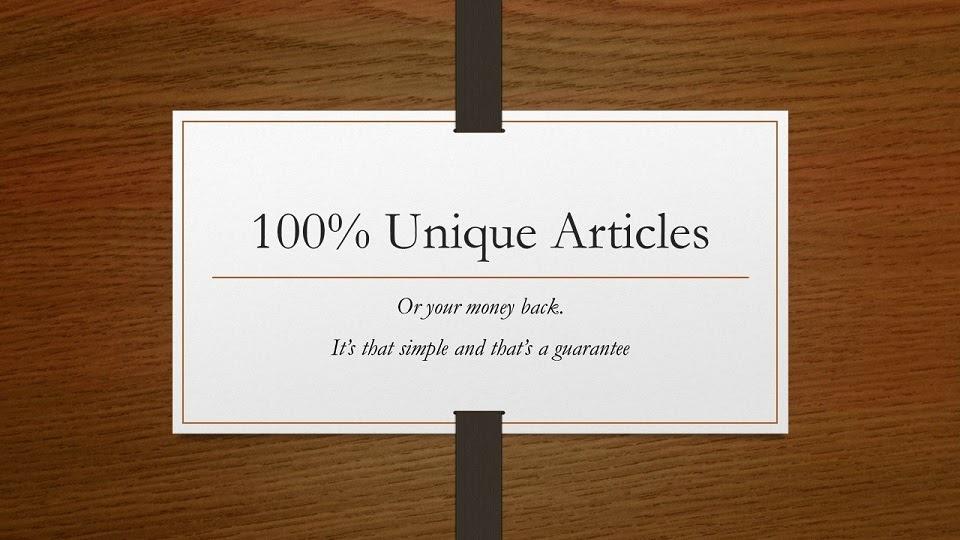 written articles