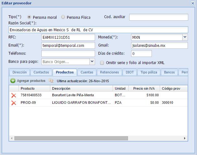 Sinube soporte técnico: Portal de Proveedores - photo#5