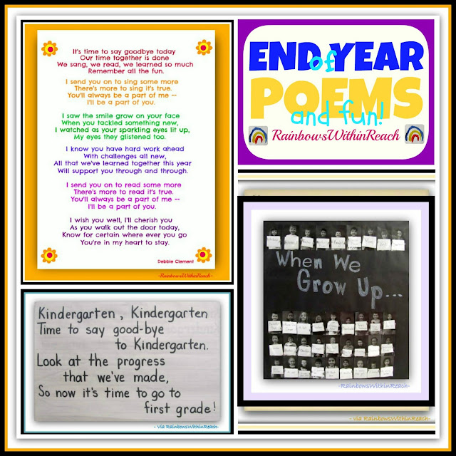 End of Year Poems, Piggyback Song and Festivities RoundUP at RainbowsWithinReach