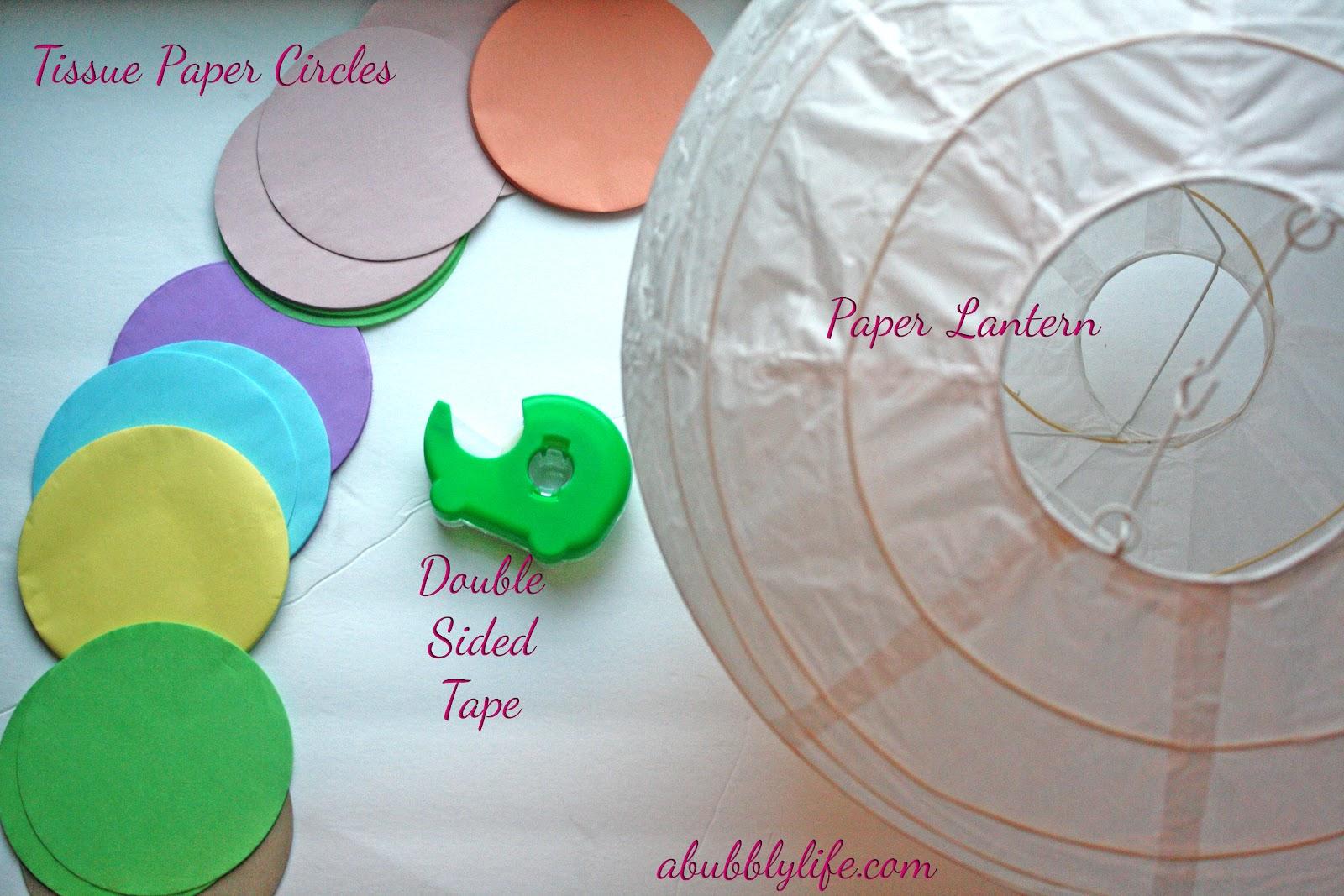 Diy Paper Lanterns A Bubbly Life Paper Lantern Diy Kalias Nursery The Details