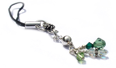 Green Cell Phone Charm