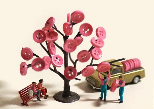 Cherry Blossoms Tatsuya Tanaka Miniature Calendar