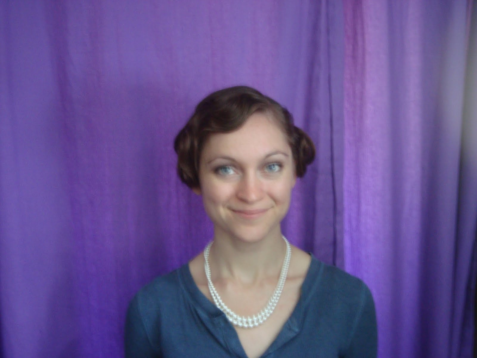Here I have my hair done in a faux bob and real finger waves by Marci ...