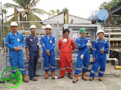 FOTO : Admin ( paling kiri ) kuli dulu di PT. Vico Indonesia